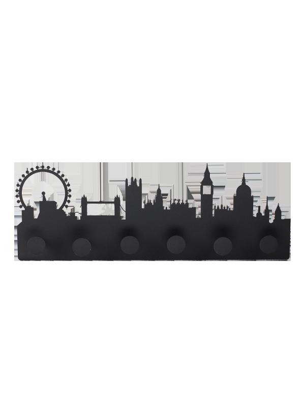 Appendiabiti Skyline Londra Nero