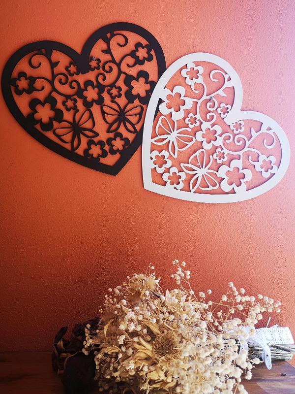 Cuore Nero decorazione per muro