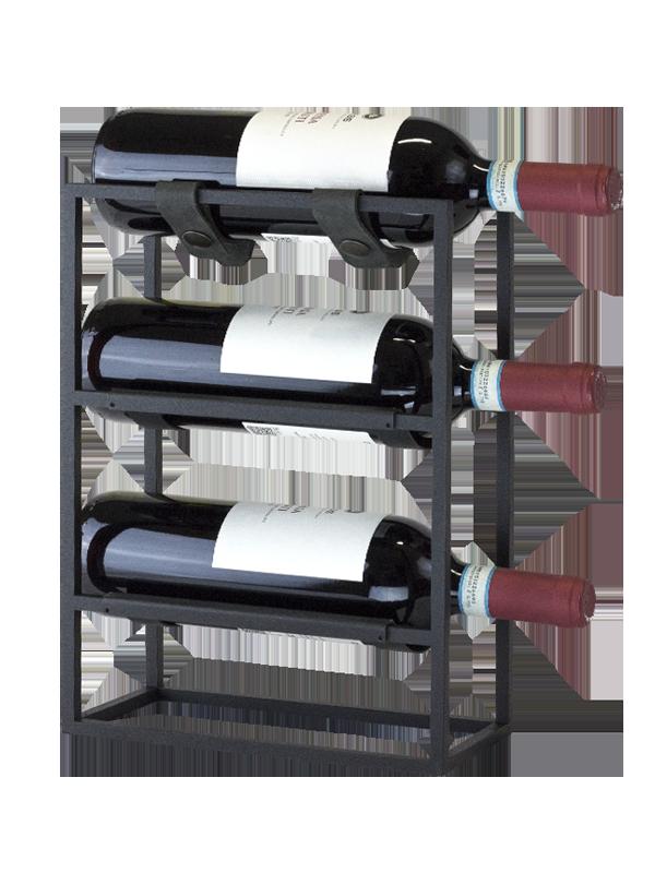 Porta 3 bottiglie Nero by Tamara Ristic
