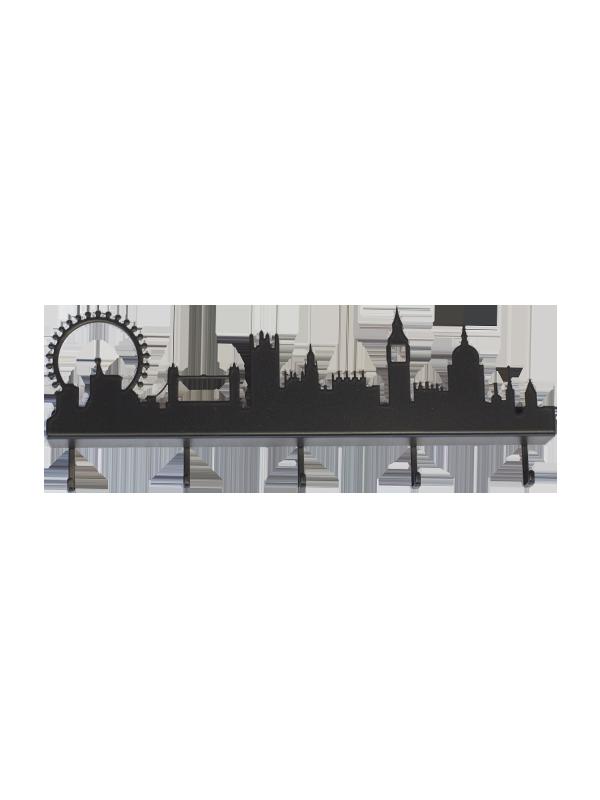 Portachiavi Skyline Londra Nero