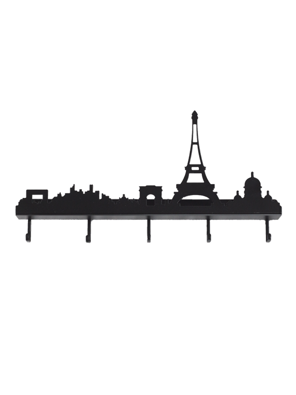 Portachiavi Skyline Parigi Nero